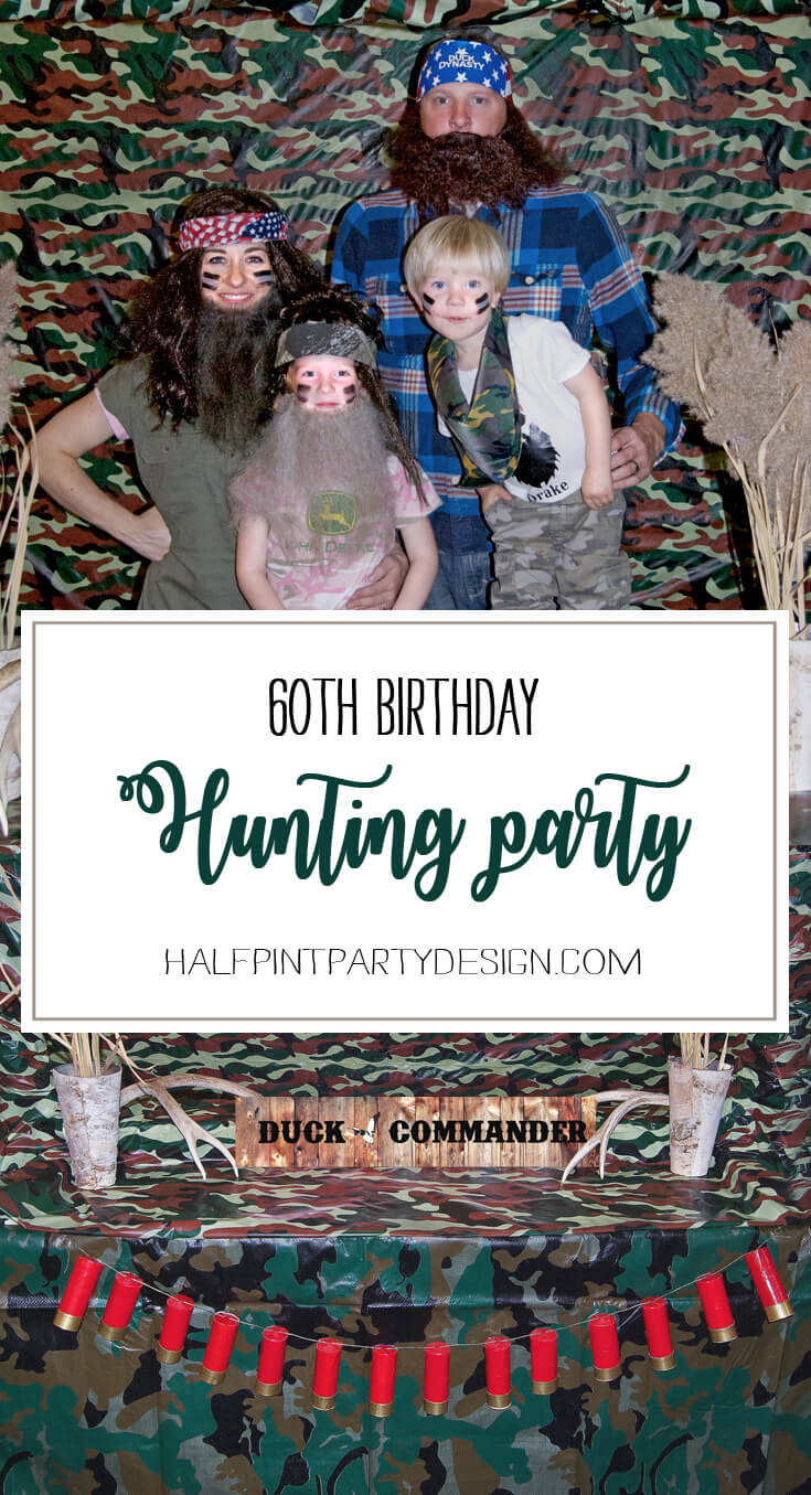 A hunting party spells Fall fun! So many great ideas for this theme. Hunting Themed Birthday Party | Halfpint Design - Duck Dynasty, duck hunt party, hunting party, birthday party theme