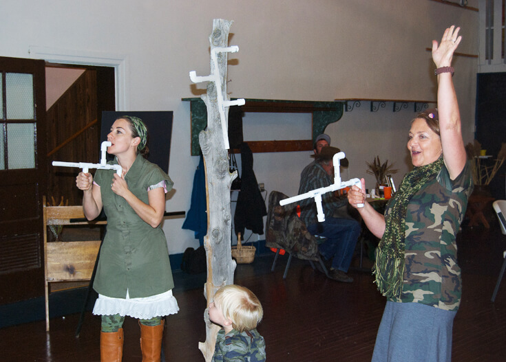 "We had a mashmallow shooting contest with PVC mallow ""guns"". It was awesome! Hunting Themed Birthday Party 