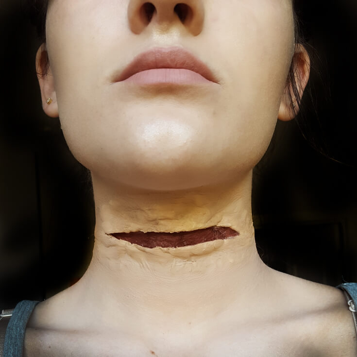 Zombie Apocalypse Makeup Tutorial from Amazing Grace Makeup featured on Halfpint Design - Halloween costume, halloween makeup, halloween party ideas, The Walking Dead