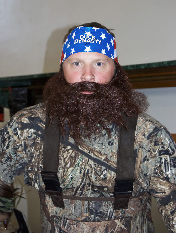 The bearded one himself! Hunting Themed Birthday Party | Halfpint Design - Duck Dynasty, duck hunt party, hunting party, birthday party theme