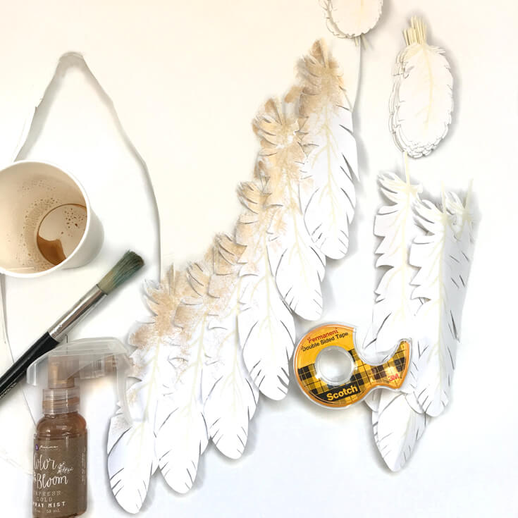 Everything you need for angel wings. I created angel wings with my Cricut Explore Air for a Peace on Earth holiday display. Check out how I did it and grab the feather svg files to make some magic for your home! Holiday Angel Wing Tutorial at Halfpint Design. Great for Christmas, Easter, Halloween, Baby Showers, and general home decor.
