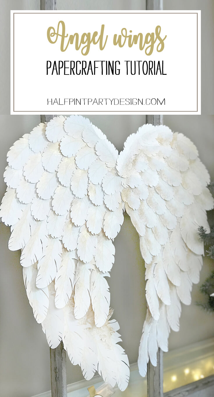 I created angel wings using my Cricut Explore Air for a Peace on Earth holiday display. Check out how I did it and grab the feather svg files to make some magic for your home! Holiday Angel Wing Tutorial at Halfpint Design. Great for Christmas, Easter, Halloween, Baby Showers, and general home decor.