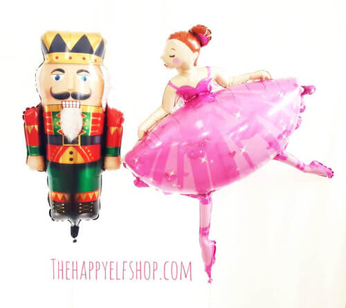 Looking for a great winter birthday idea? Or holiday party theme for your friends and family? A Nutcracker ballet party is the perfect theme and I've got a list of 26 amazing products that will up your party game! These huge balloons are awesome. Not so pastel but really really cool. Pretty Pastel Nutcracker Ballet Party Ideas on Halfpint Design. Ballet party, Christmas party, Nutcracker party.