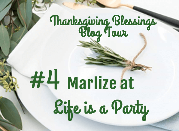 Thanksgiving Blessings Blog Tour #5 Bri at Halfpint Design, welcome if you are coming from Marlize at Life is a Party - A blog tour full of Entertaining, decor, and recipe ideas.
