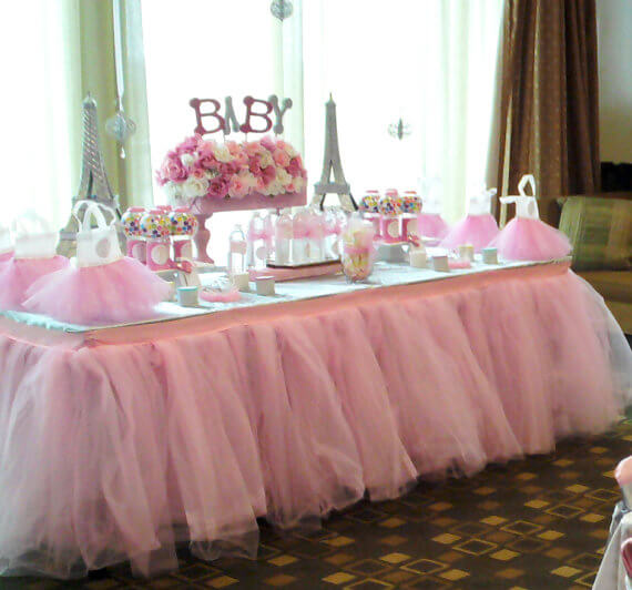 Looking for a great winter birthday idea? Or holiday party theme for your friends and family? A Nutcracker ballet party is the perfect theme and I've got a list of 26 amazing products that will up your party game! A ballet party must have a tutu table skirt! Ot tree skirt if you decide to incorporate a pink Christmas tree. Pretty Pastel Nutcracker Ballet Party Ideas on Halfpint Design. Ballet party, Christmas party, Nutcracker party.