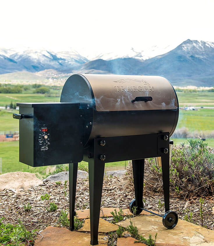Have a difficult man in your life making gift buying a headache? Indulge his love of outdoor cooking with this amazing Traeger grill. For more great ideas check out the Ultimate Gift Guide for the Man who has Everything at Halfpint Design. Christmas gift ideas, men's birthday gift ideas.