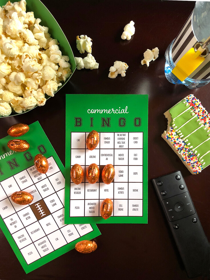Commerical BINGO cards make s great game time activity