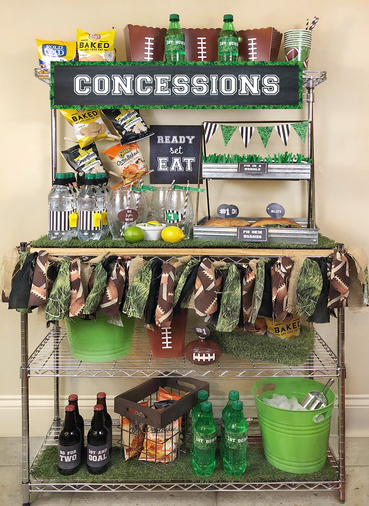 Concession stand to feed guests during the big game