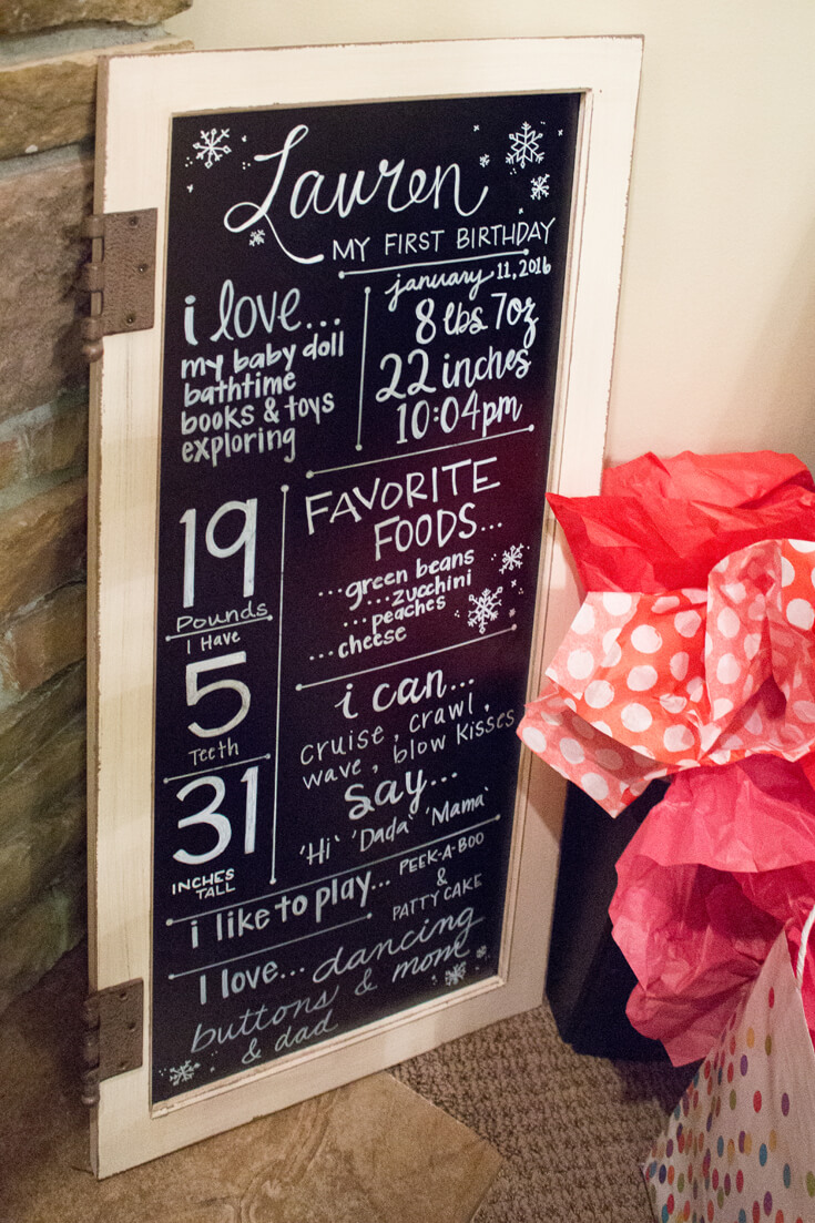 for a Winter ONEderland First Birthday party. See where to get this and lots of other darling party details at Halfpintpartydesign.com. Winter birthday ideas, baby birthday, baby it's cold outside.