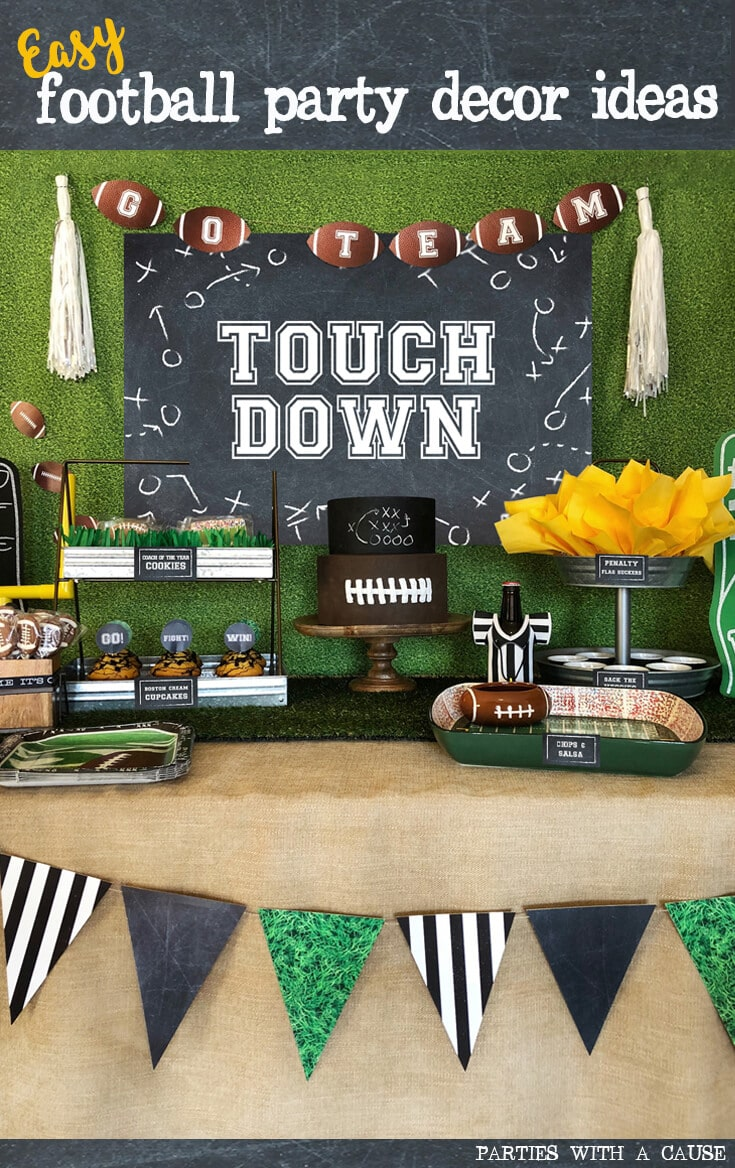 Easy football party decor ideas