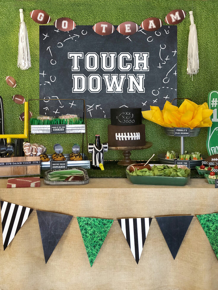Football Party Food Table Decor