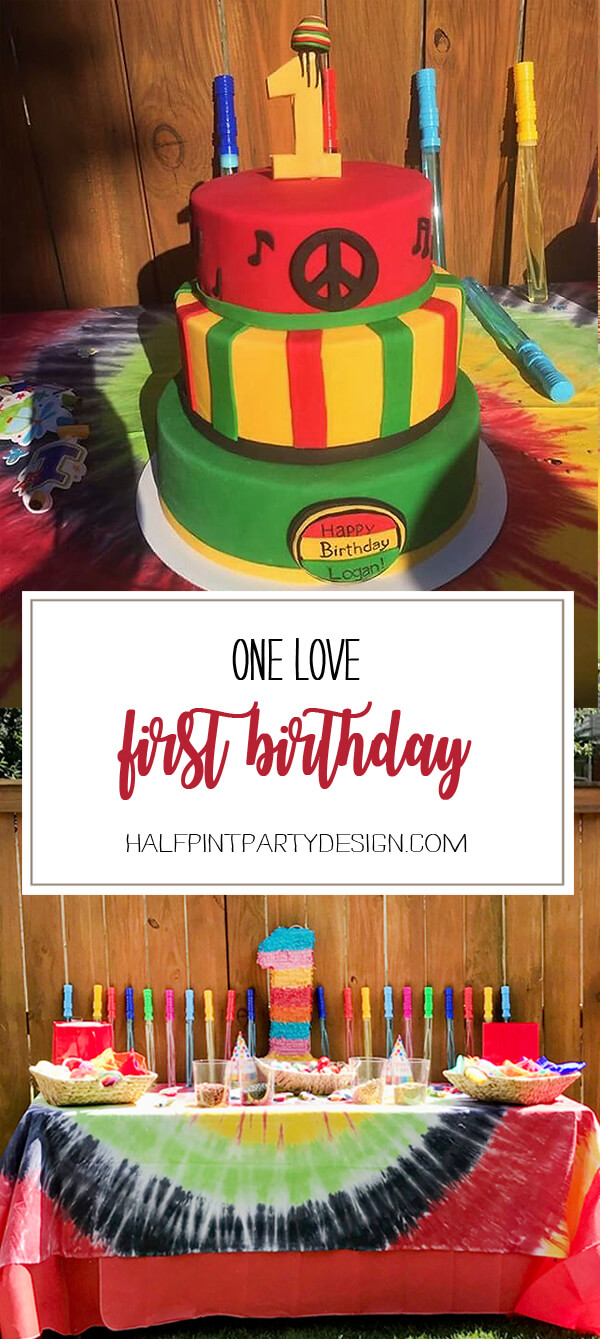 One Love first birthday party. Rasta cake and musical celebration.