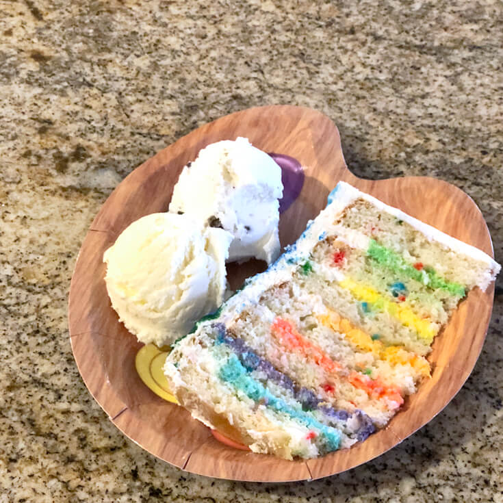 A rainbow drip cake needs color on the inside too for an Art themed birthday party where you can party like Picasso! Halfpint Design. Art party, painting party, rainbow party.