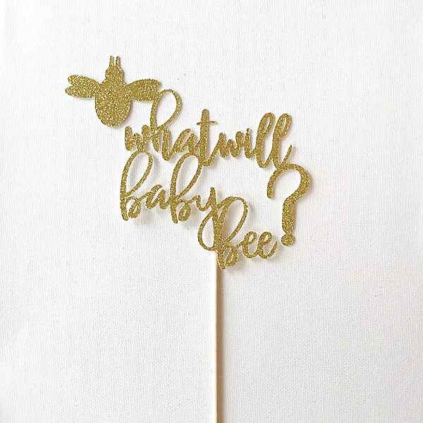 What will it bee cake topper for a What will baby bee gender reveal party
