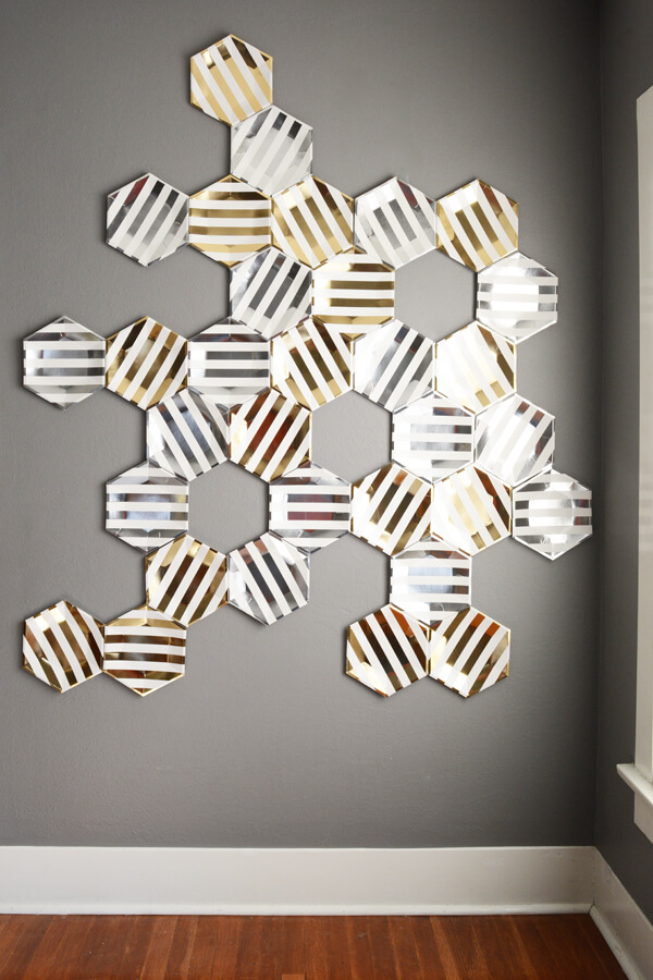 Hexagon plate backdrop for a What will it bee? Gender reveal party