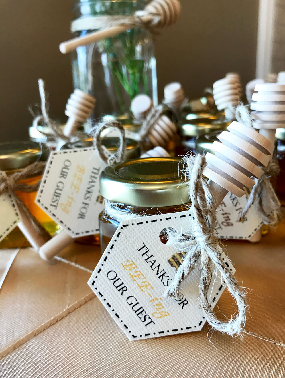 "Honey favors Thanks for ""bee""ing here at Mommy to bee baby shower,"