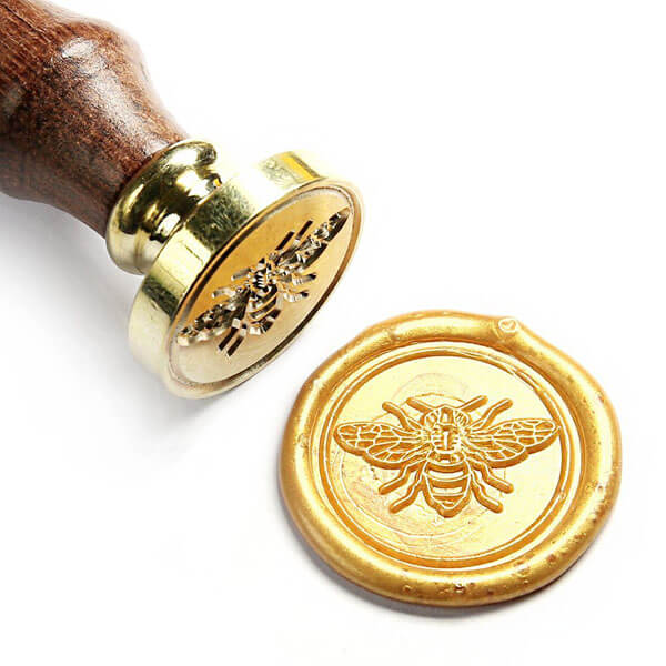 Honey bee wax seal for a What will it bee? Gender reveal party