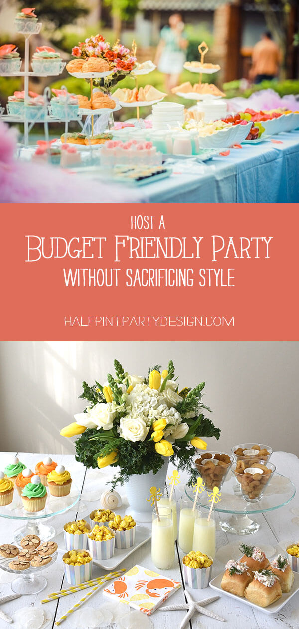 Pinterest collage for Planning a children's party on a budget without sacrificing style