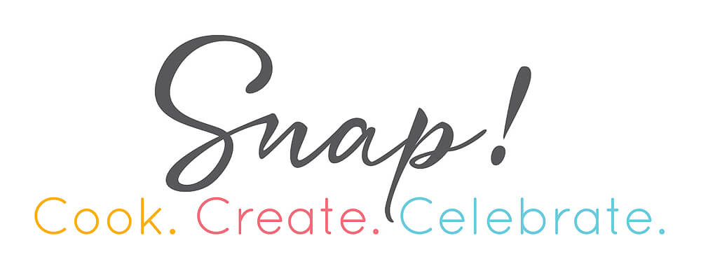 Snap Conference Logo. Cook. Create. Celebrate.