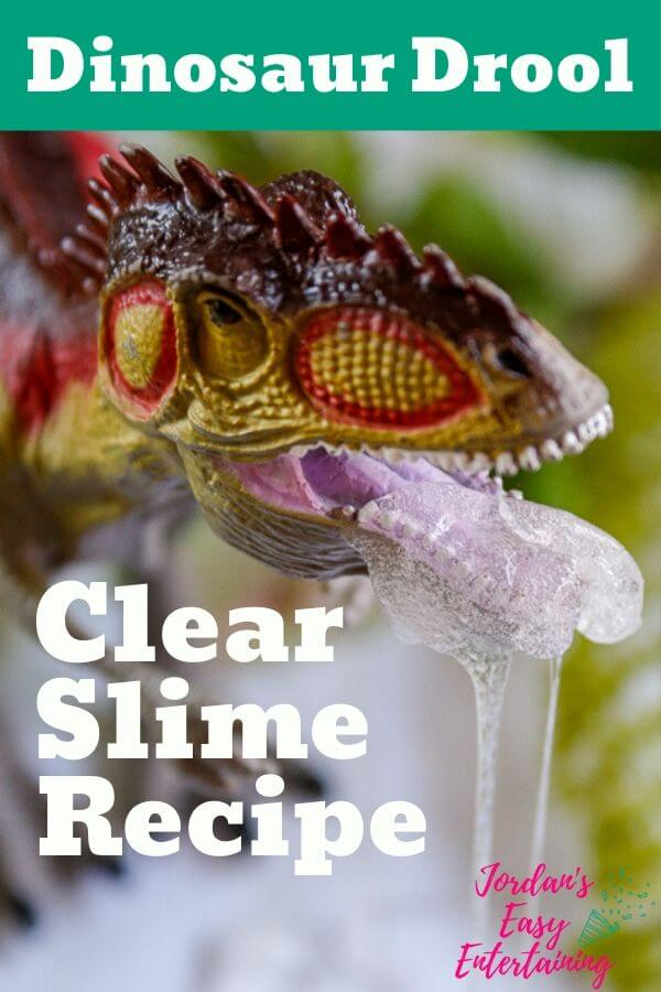 Dinosaur drool clear slime recipe