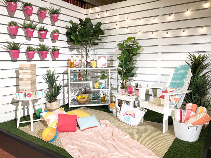 A summer party set up to inspire Cricut made DIY Gift Ideas