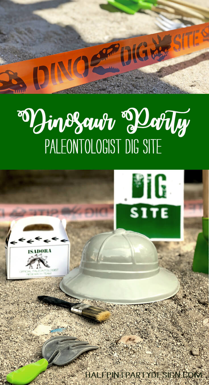 Dinosaur Party Paleontologist Dig Site for a birthday party