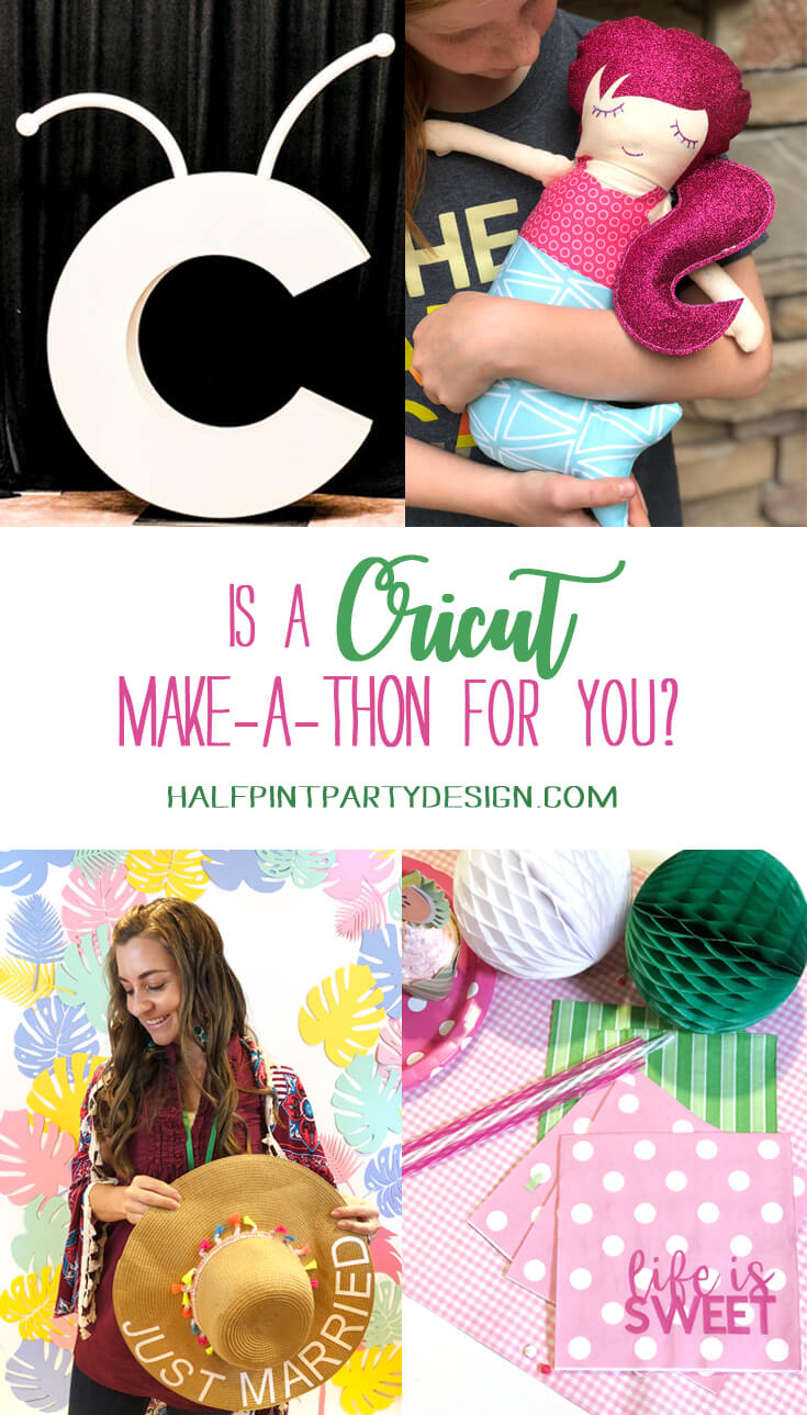 Pinterest graphic for Ciruct Mountain Make-a-thon showing different activities, crafts, and training ideas
