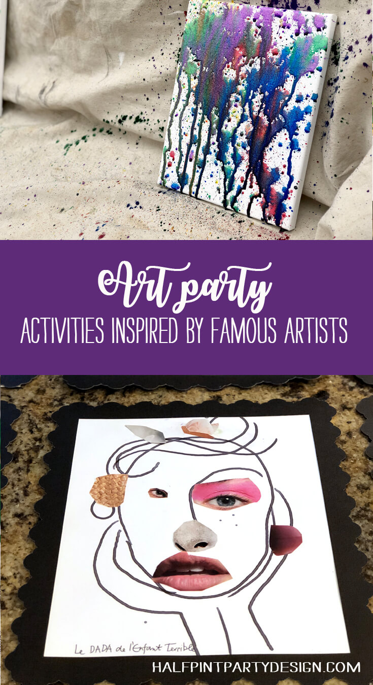 Art Party activities inspires by famous artists