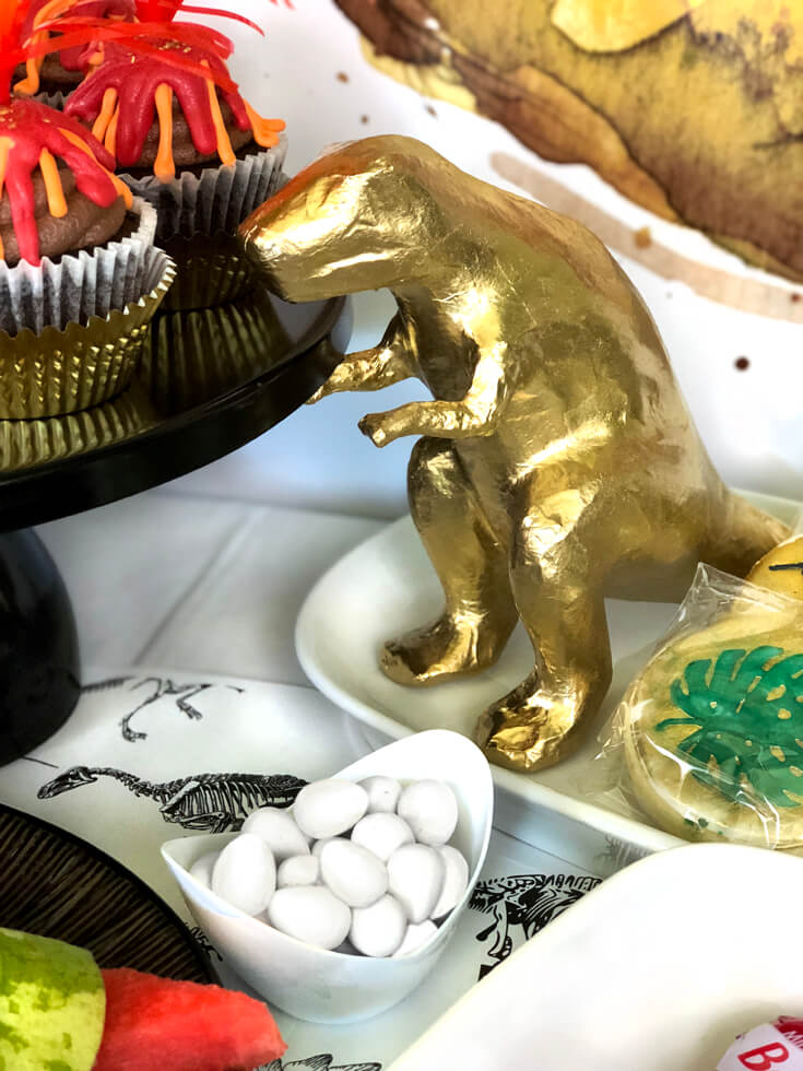 Gold T Rex Dino Eggs And Fossil Cookies For A