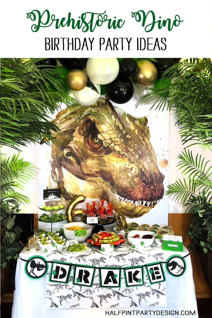 Prehistoric Dinosaur Birthday Party Ideas