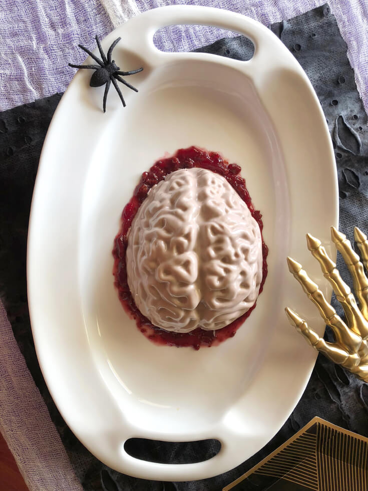 Halloween dessert red velvet Brain Cake tutorial