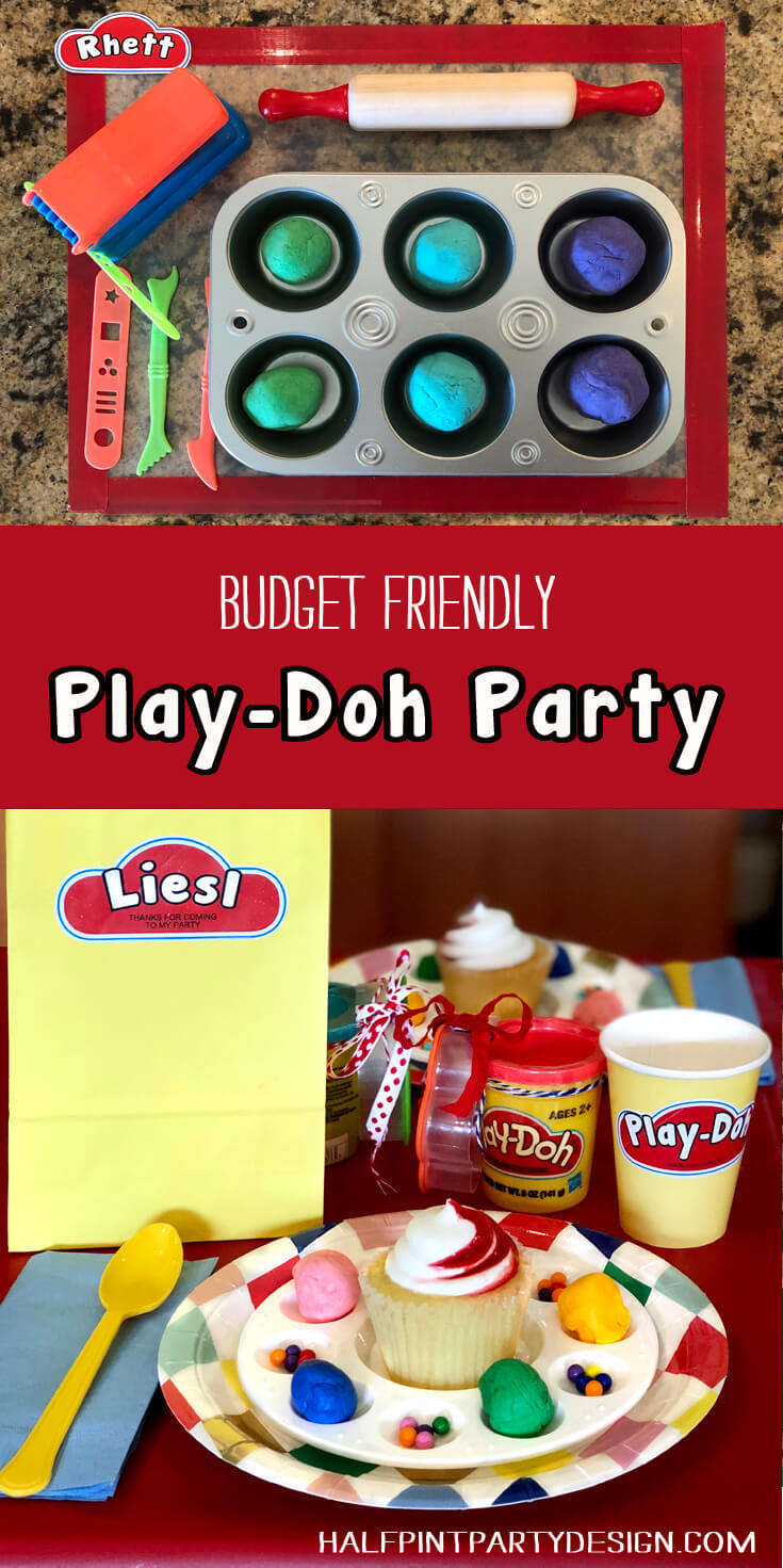 Budget friendly Play-Doh birthday party ideas, homemmade playdough, edible playdough for activities.