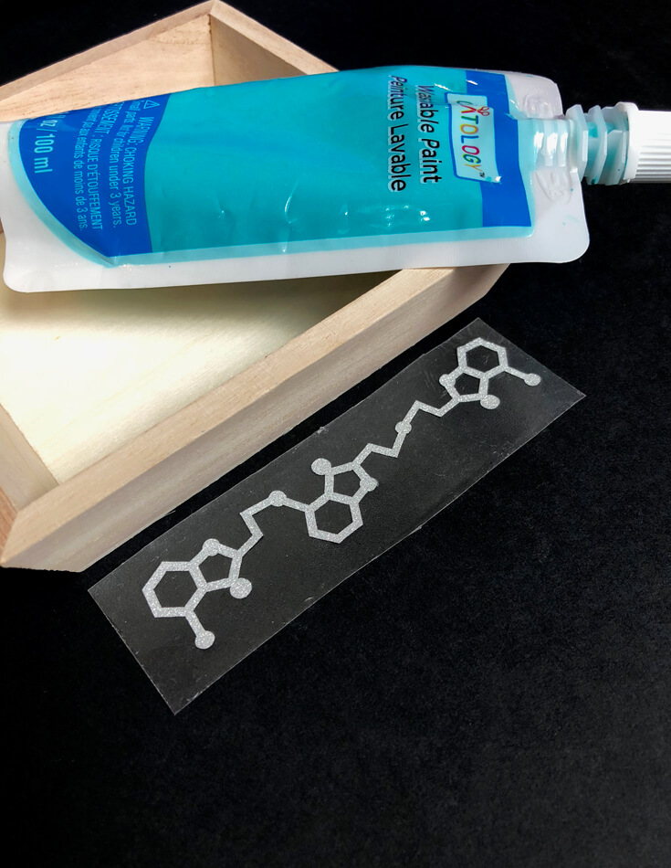 Molecule string sticker - Mad Science party decor