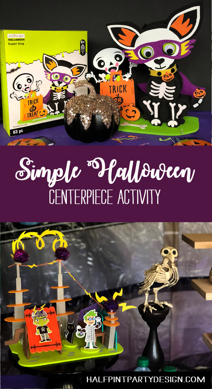 Simple Halloween Centerpiece Activity ideas Monster Lab and Super Dog