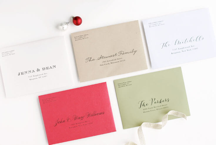 Holiday color envelopes. 40 color options for an easily Customized Christmas Party Invitation