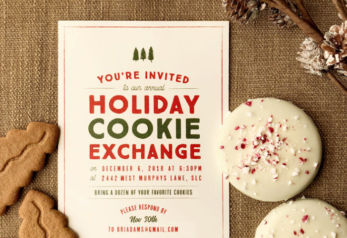 Easily Customized Christmas Party Invitation