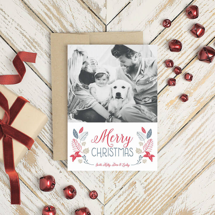 Merry Christmas family. Easily customized cards and Christmas party invitations.