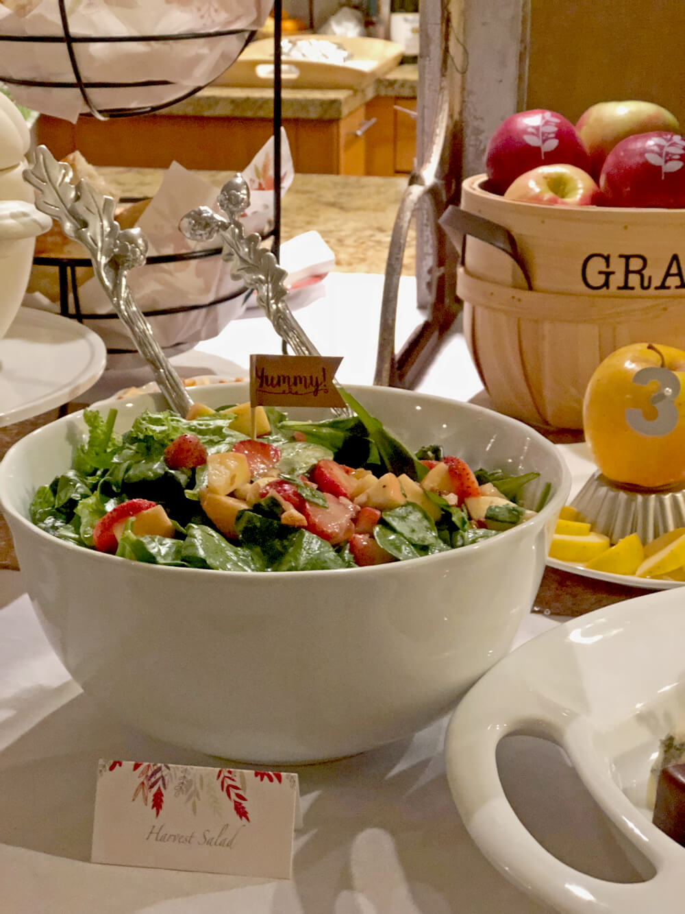 Harvest salad for girls night harvest party ideas