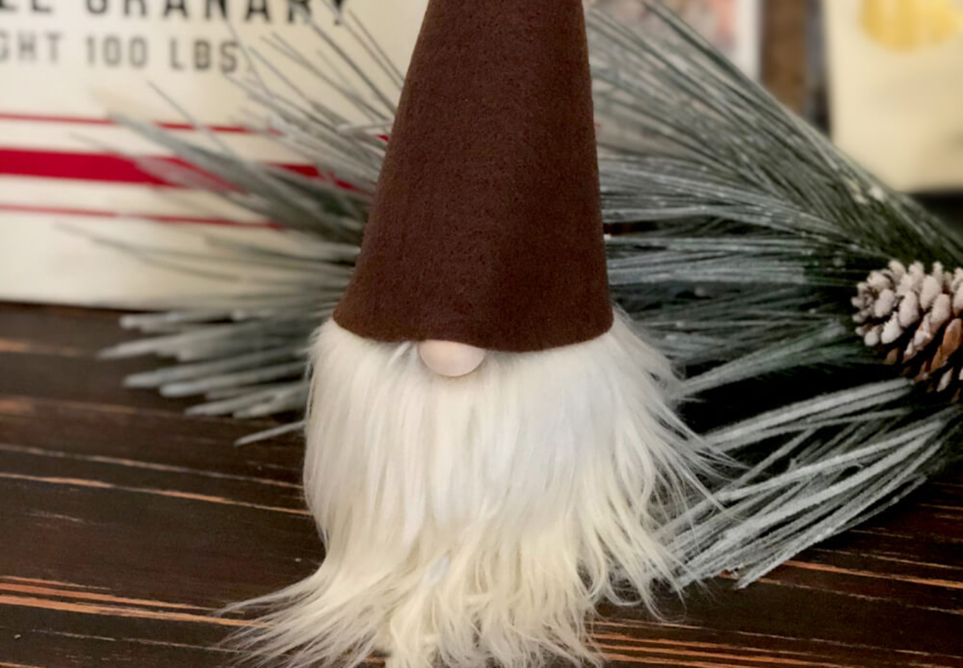 Darling Christmas tomte gnome make one at home with a simple no sew gnome tutorial