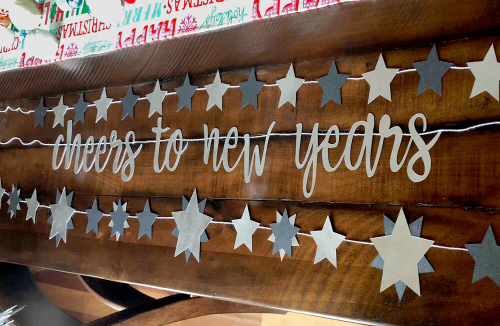 Cheers to new years and star banners for Pantone inspired New years party