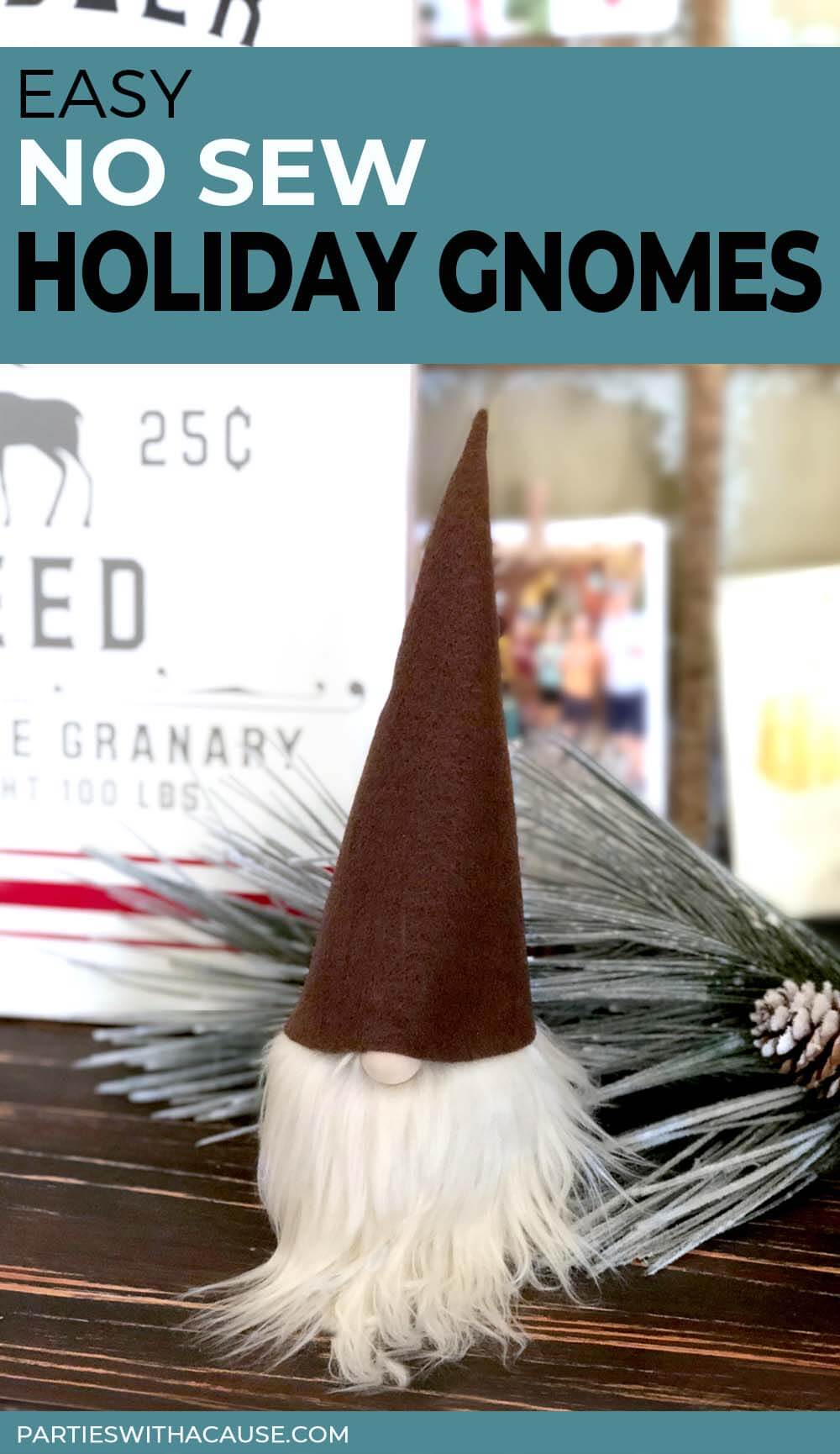 Easy No Sew Holiday Gnomes by Salt Lake Party Stylist