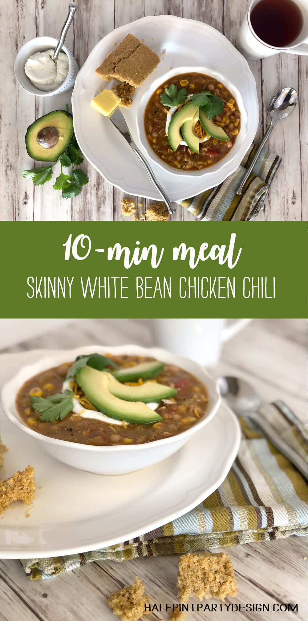10 minute pantry meal skinny white bean chicken chili recipe