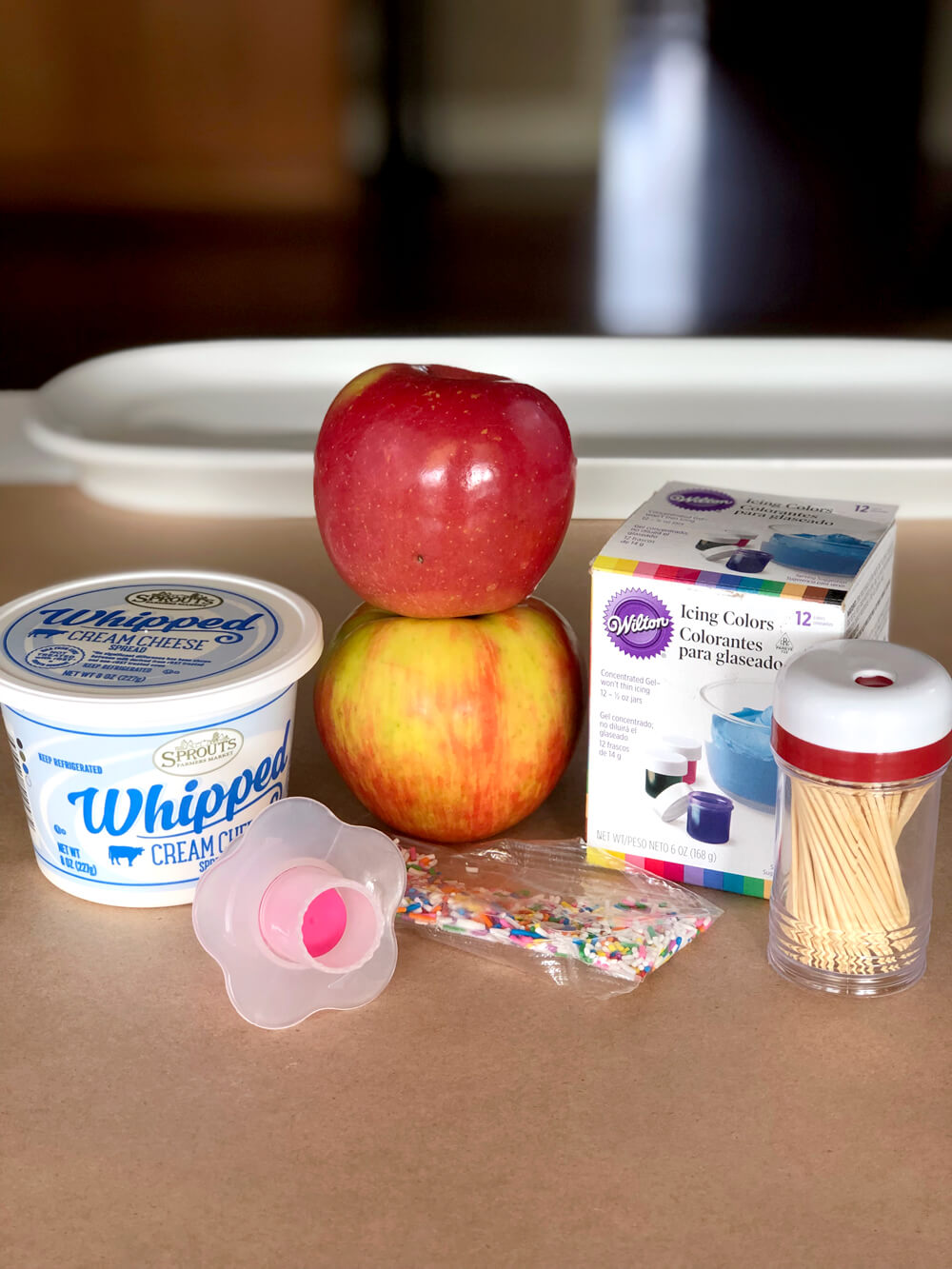 Simple ingredients for apple donuts a healthy foodie party treat