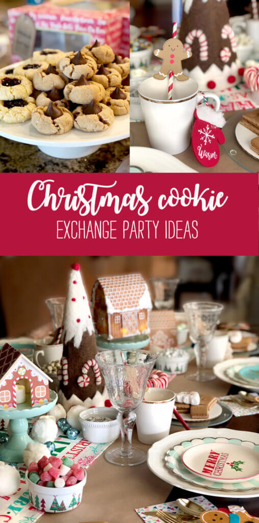 Christmas Cookie exchange party ideas collage