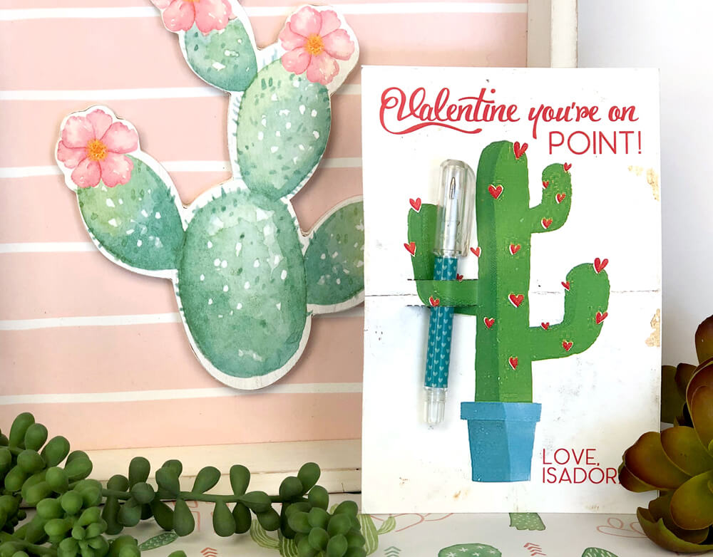 Darling Cactus Valentines Day Cards