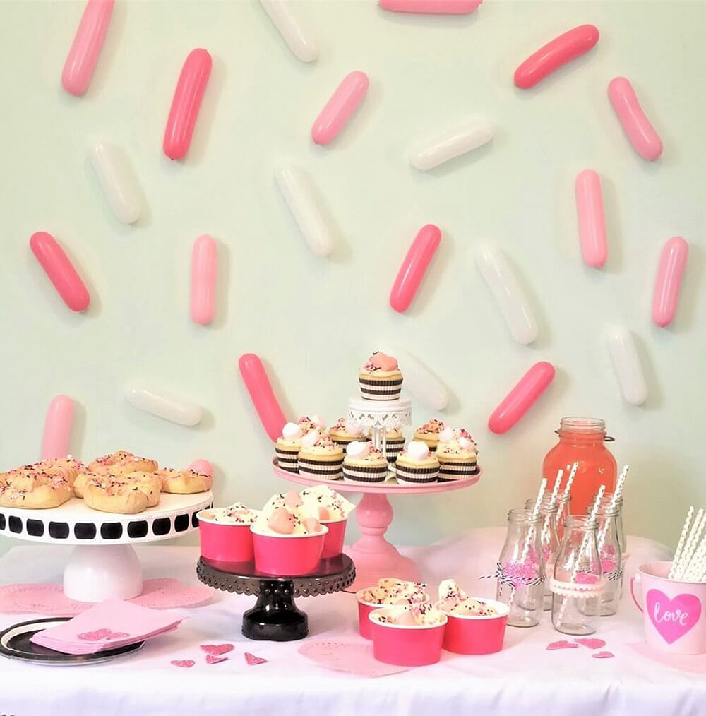 Sprinkle backdrop for a donut sprinkle baby shower