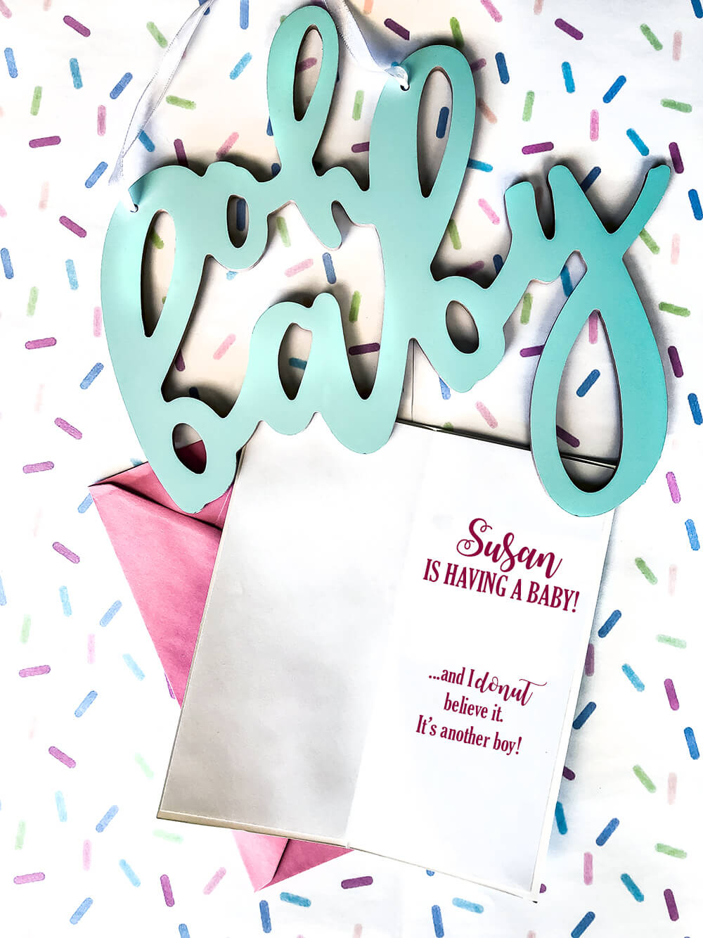 Donut sprinkle baby shower ideas and invitation
