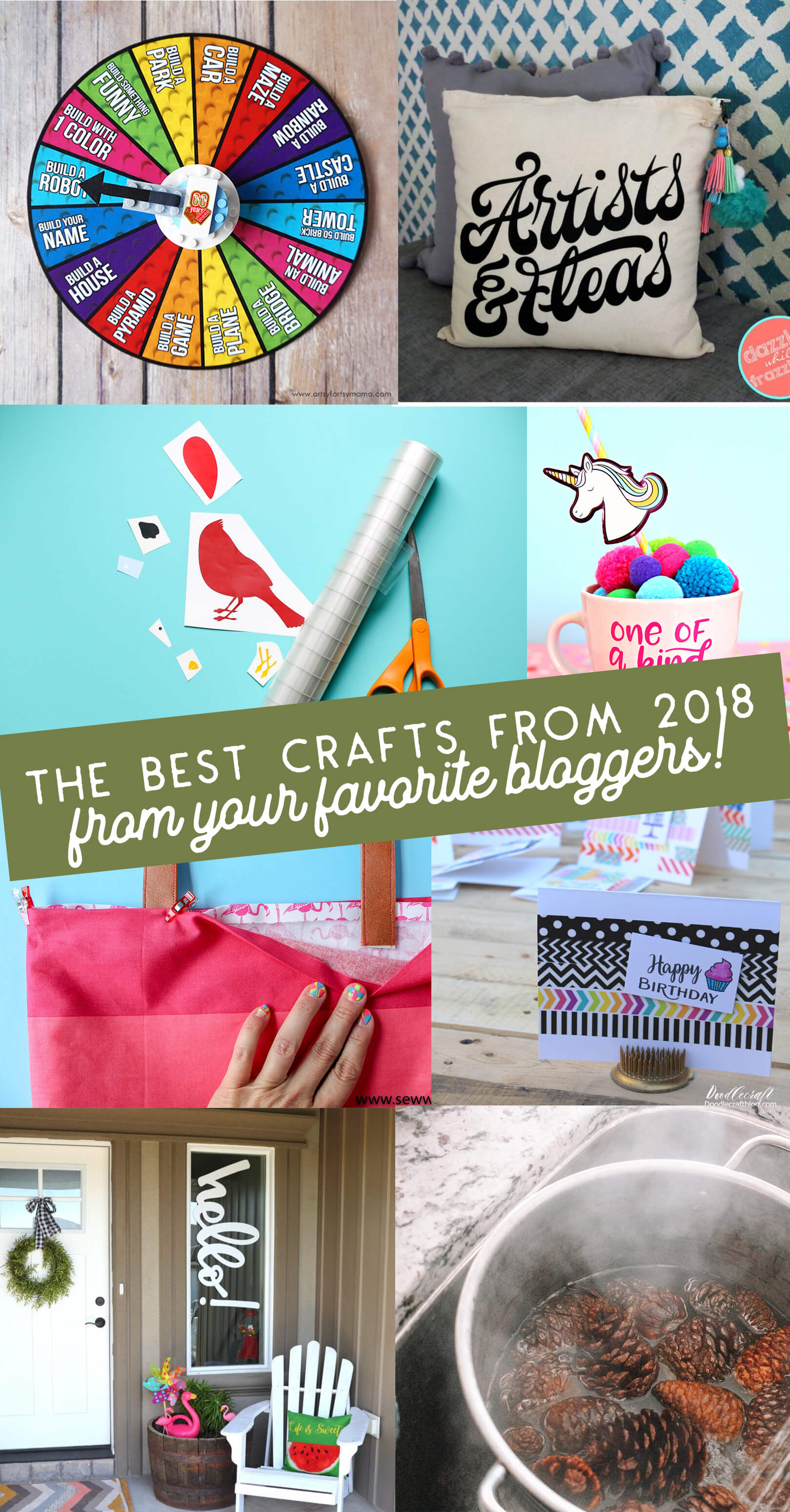 The Best Crafts of 2018 from Your Favorite Bloggers.
