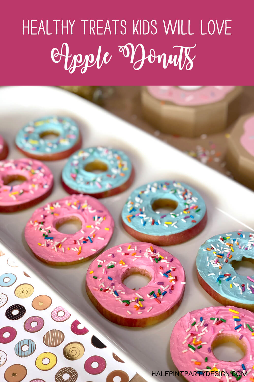 Healthy treats kids will love apple donuts