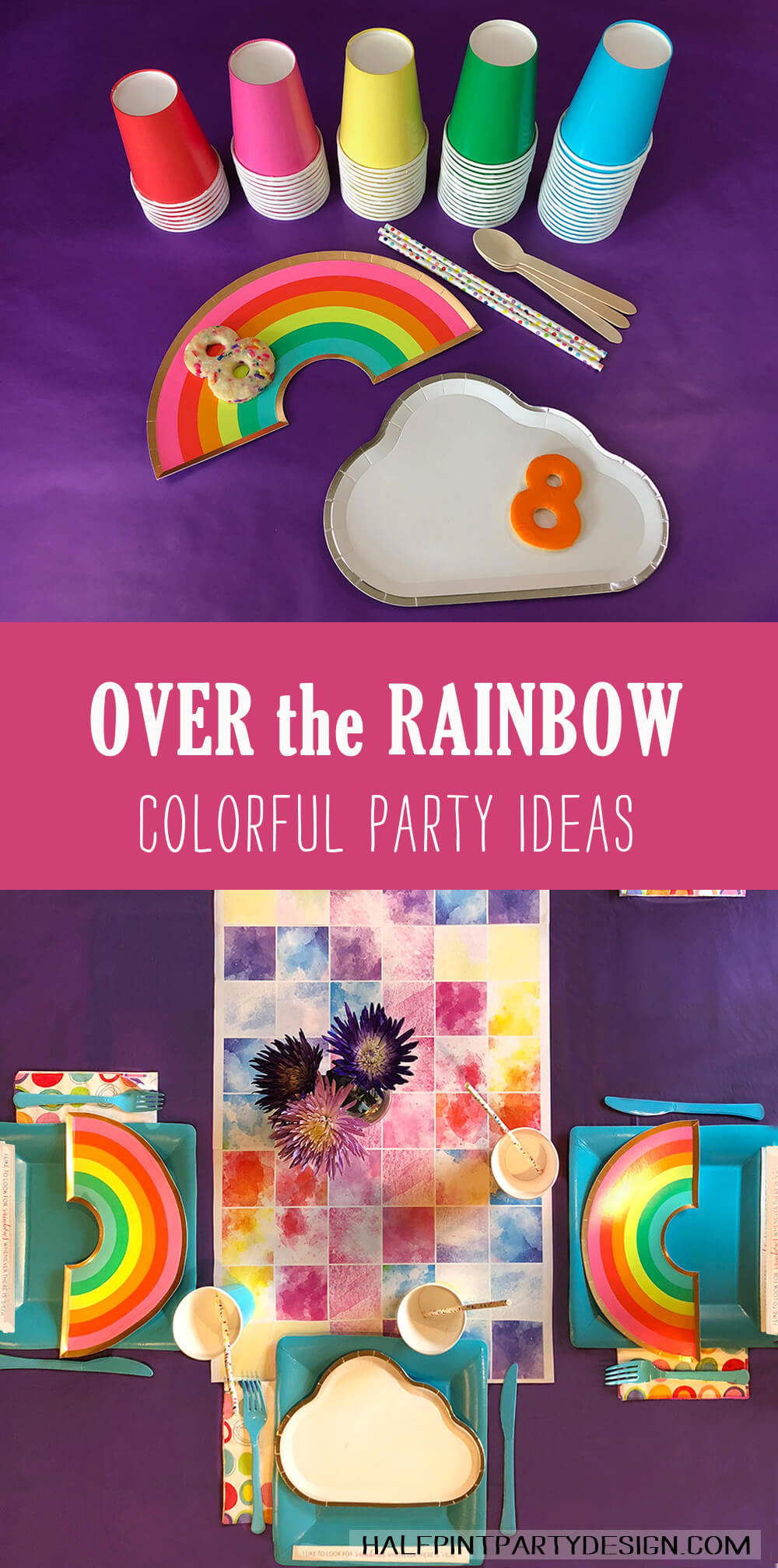 Colorful Over the rainbow party table